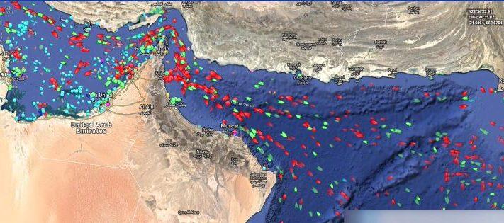مياه الخليج التي غرقت فيها أكثر من 250 ناقلة عملاقة