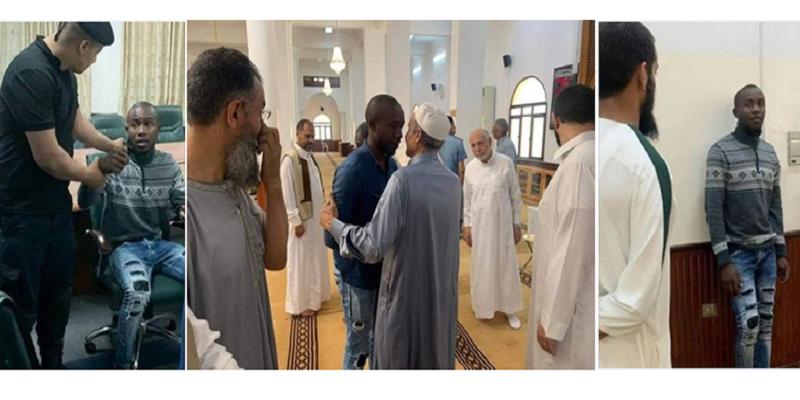 كاميروني يدور على المساجد وينصب على المصلين ويدعي أنه سيدخل الإسلام فجمع أموالا طائلة (صور)