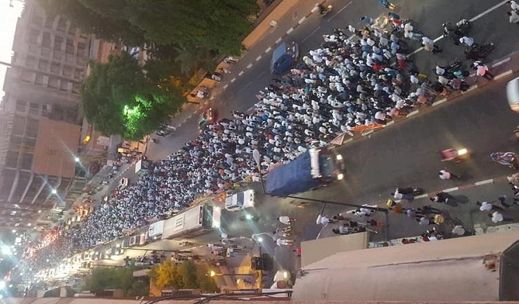 """صورة.. مسيرة """"الأساتذة المتعاقدين"""" بمراكش 20 يوليوز 2019"""