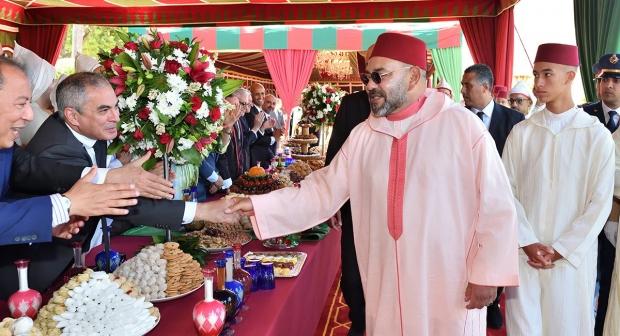 الملك محمد السادس يترأس بطنجة حفل استقبال بمناسبة الذكرى الـ20 لعيد العرش