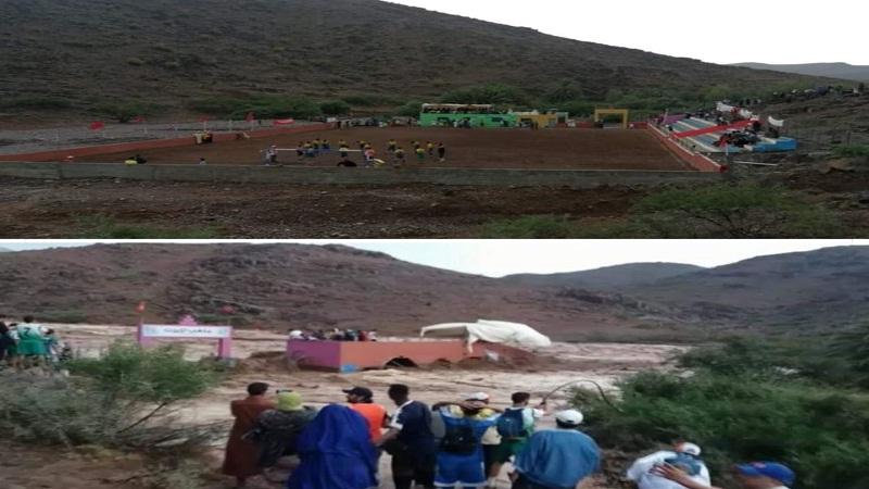 تفاعل ساخط في فيسبوك مع فاجعة سيول إقليم تارودانت وملعب تيزرت