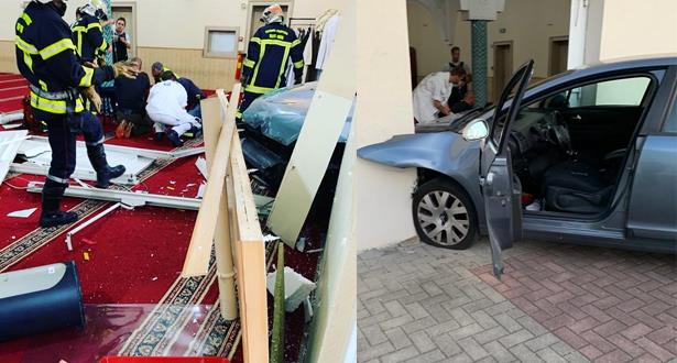 إلقاء القبض على مقتحم المسجد بسيارته في فرنسا