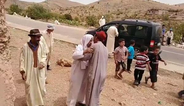 فيديو.. هكذا ساكنة تغرمان فقيه الدوار سيدي الحاج لحسن بعد عودته من مكة المكرمة