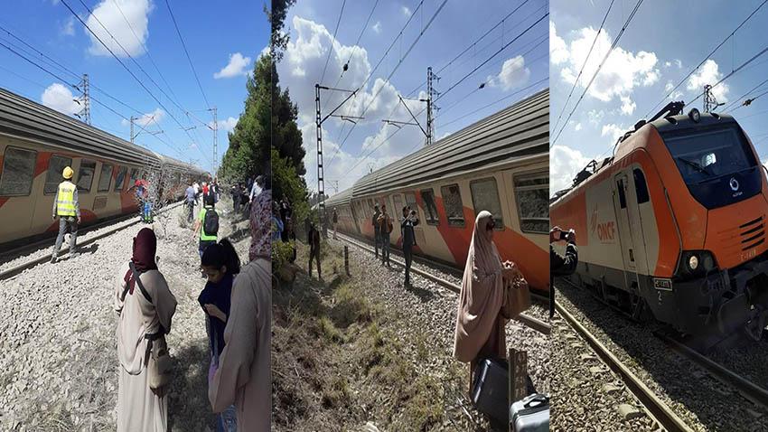 بلاغ المكتب الوطني للسكك الحديدية عن انحراف قطار عن سكته بالقرب من بوسكورة