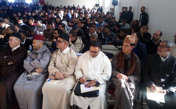 صور للحضور الكبير لمحاضرة الشيخ بنحمزة بكلة الشريعة بفاس