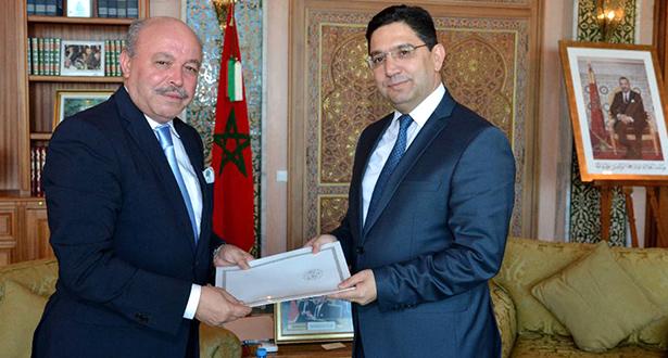 بوريطة يستقبل السفير الجديد للجزائر