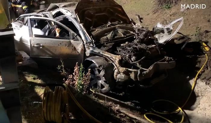 مصرع أربعة شبان مغاربة في حادثة سير خطيرة بجهة مدريد (فيديو)