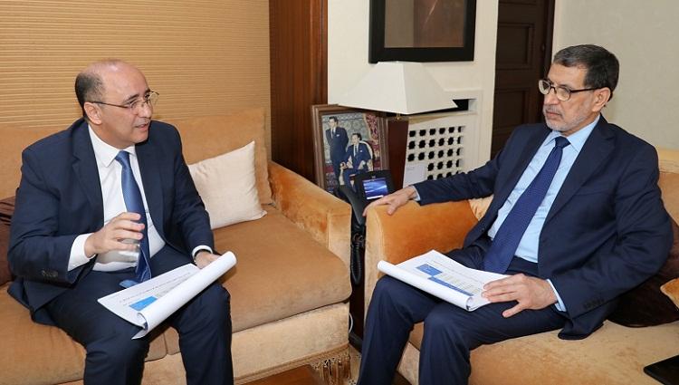 رئيس الحكومة سعد الدين العثماني يستقبل رئيس هيئة مراقبة التأمينات والاحتياط الاجتماعي