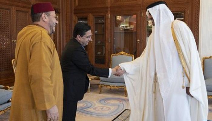 أمير دولة قطر يستقبل فؤاد عالي الهمة مستشار الملك محمد السادس