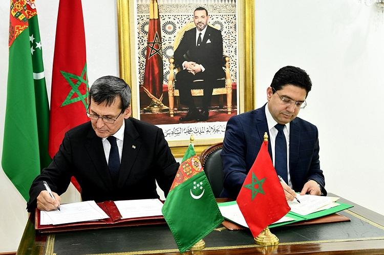 بوريطة يستقبل نظيره التركماني حاملا رسالة من رئيس تركمانستان إلى الملك محمد السادس