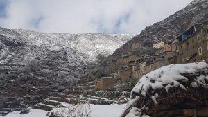 صورة.. تساقط الثلوج على جبال الأطلس (إقليم تارودانت)
