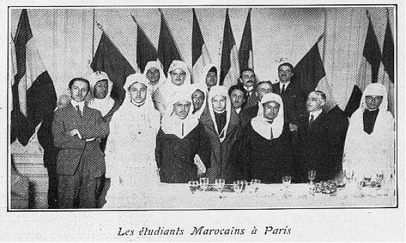 التلاميذ المغاربة في باريس (يوليوز 1922)