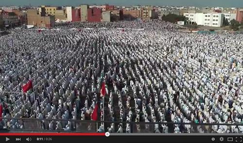 مشهد مهيب ومؤثر من مصلى حي كريمة بمدينة سلا؛ عيد الفطر 1436-2015