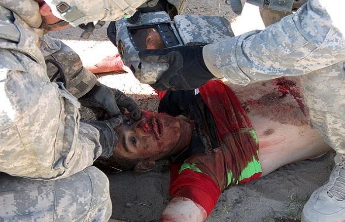 قتل سكان الموصل من طرف الحشد الشيعي برميهم من الأسطح