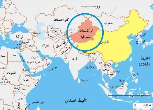 تركستان الشرقية المحتلة من طرف المارد الصيني البوذي