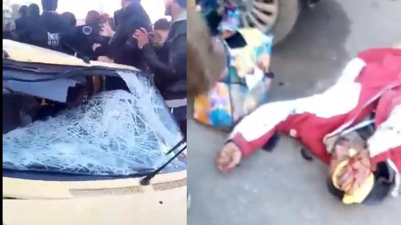 فيديو.. مشاهد بعد الحادثة المروعة صباح اليوم بحي سيدي موسى بسلا