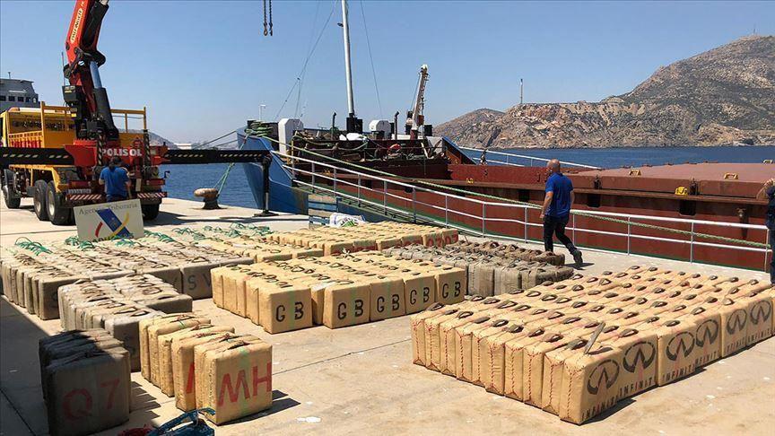 بمعلومات تركية.. ضبط 12 طنًا من المخدرات قبالة الجزائر