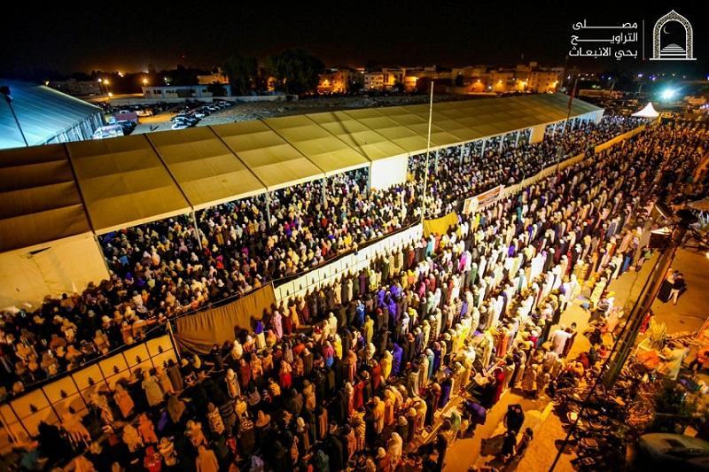 صورة.. إقبال نسائي كبير على مصلى حي الإنبعاث في ليلة 27 من رمضان 1440هـ