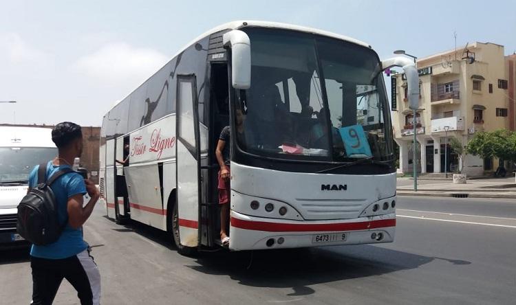 استعمال حافلات المسافرين مؤقتا كحافلات لنقل الركاب بين مدينتي سلا-الرباط