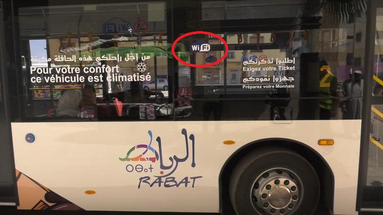 """""""الويفي"""" من بين خدمات أخرى في حافلات """"ألزا"""" الجديدة بمدن الرباط-سلا-تمارة"""
