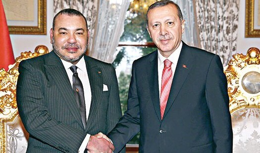 الملك محمد السادس يوجه دعوة لأردوغان لزيارة المغرب