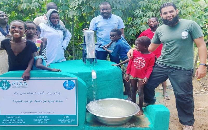 مؤسسة عطاء الدولية تشرف على أكبر مشروع خيري لحفر الآبار.. حفر 130 بئرا بدولة غانا في الفترة الأخيرة