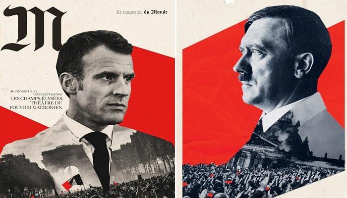 """فرنسا.. تحقيق حول لافتات شبّهت ماكرون بـ""""هتلر"""""""